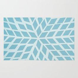 Light blue, diamond, mosaic pattern. Moroccan tile. Rug