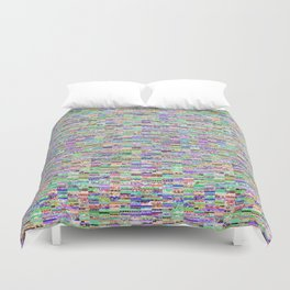 Old textile book page glitch 001 Duvet Cover