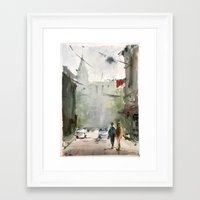 street Framed Art Prints featuring Street by Baris erdem