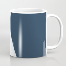 Elegant blush pink & navy blue geometric triangles Coffee Mug