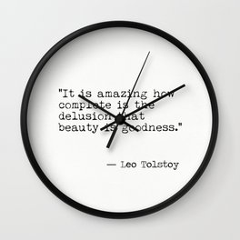 Leo Tolstoy interesting quote Wall Clock