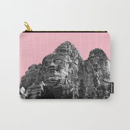Part of Angkor Wat with pink Carry-All Pouch