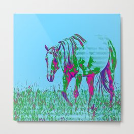 Pop Art Horse 1 Metal Print
