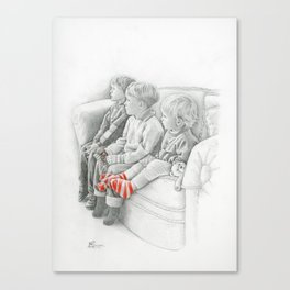 Watching Tom & Jerry Canvas Print