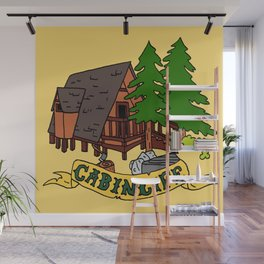 Cabin Life Wall Mural