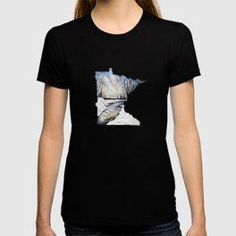 Minnesota Silhouette Winter Scene T-shirt