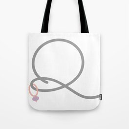Q Initial with Stitch Marker Tote Bag