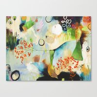 "flora bowley Canvas Prints featuring ""Rainwash"" Original Painting by Flora Bowley by Flora Bowley"