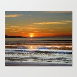 Silver and Gold Sunset Canvas Print