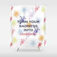 creativity Shower Curtains featuring Creativity by Roxana C.