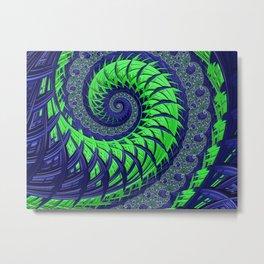 Seahawks Spiral Metal Print