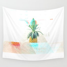 GLITCH NATURE #35: Happy Pineapple Wall Tapestry