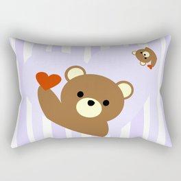Valentine bear blue Rectangular Pillow