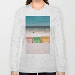 Beach Cabins North Sea Long Sleeve T-shirt