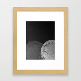 Dark Night BW Framed Art Print