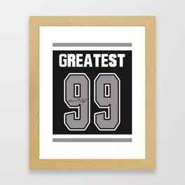 99 the Greatest. Framed Art Print