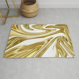 Liquid Gold Marble Rug
