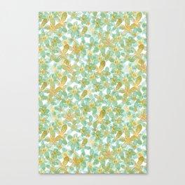 Flower Power | Green Palette Canvas Print