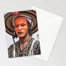 Fulani Wodaabe man - Niger, Africa Stationery Cards
