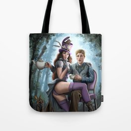 Steampunk Alex in Wonderland and the Madhatter Tote Bag