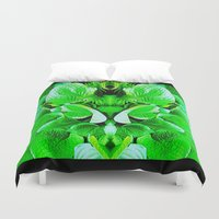 grumpy Duvet Covers featuring Grumpy Fauna by Pepita Selles