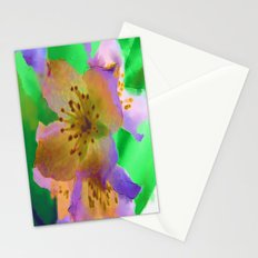 Purple Flowers - Watercolour Painting Stationery Cards