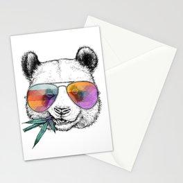 Panda Graphic Art Print. Panda in glasses Stationery Cards