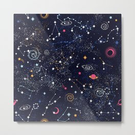 Space Galaxy Metal Print