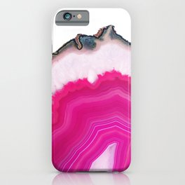 Pink Agate Slice iPhone Case