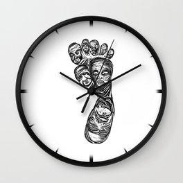 Face foot linoleum press Wall Clock
