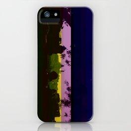 Paris and glitch iPhone Case
