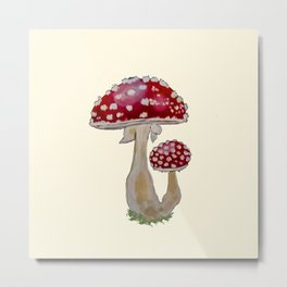 Fly Agaric Cream Metal Print