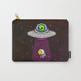 Alien in a spaceship abducting an astronaut Carry-All Pouch