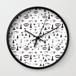 Lips and more . . . Wall Clock