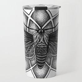 Moth Mandala Travel Mug