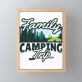 Camping trip with the family Framed Mini Art Print