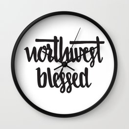 NW Blessed Wall Clock