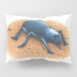 Blue Death Feigning Beetle Pillow Sham