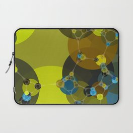 billie -vivid abstract design yellow blue brown chartreuse green Laptop Sleeve