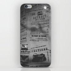 Detroit Newspapers  iPhone & iPod Skin