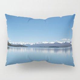 Blue line landscape Pillow Sham