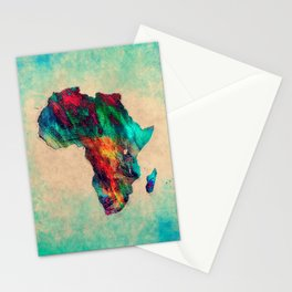 Africa color green Stationery Cards