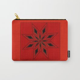 Crimson Bloom Carry-All Pouch