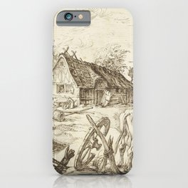 Jacob de Gheyn II - The farm iPhone Case