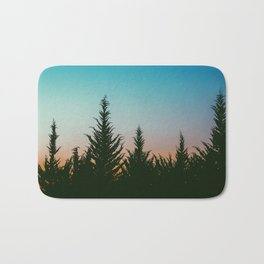 TREES - SUNSET - SUNRISE - SKY - COLOR - FOREST - PHOTOGRAPHY Bath Mat