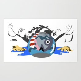 I think ambition is overrated Art Print