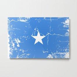 Somalia flag with grunge effect Metal Print