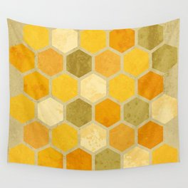 Comb on Bee happy Wall Tapestry