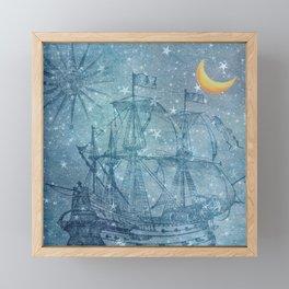 Ghost Ship Framed Mini Art Print