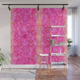 Floral pattern inspired by Hindu and Moroccan textiles Wall Mural